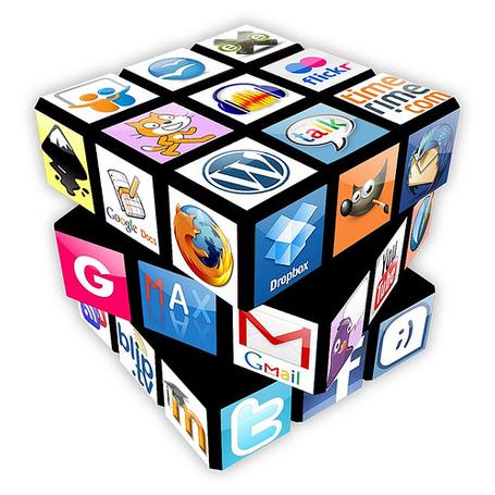 Les outils du web présentés sous forme de Rubik's Cube