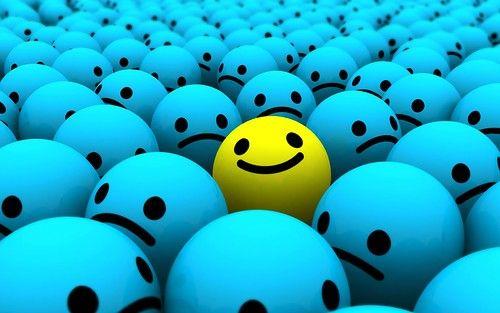 smiley optimiste